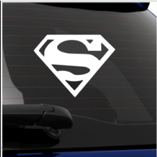 Superman Logo-Car,Van,Door,Sticker,Sign,Hero,Clark,Kent,Kryptonite,Sun,Krypton,Comic,Film,Power
